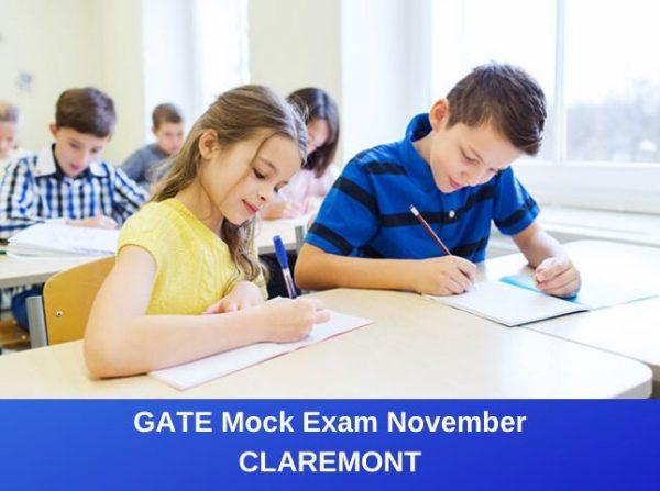 GATE Mock Exam November Claremont