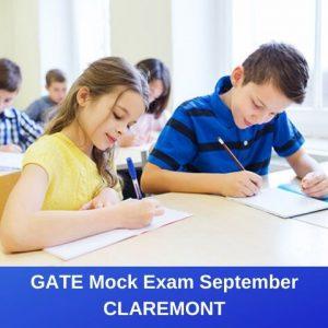 GATE Mock Exam September – Claremont
